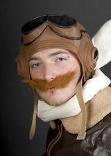 1940's FIGHTER pilota Biggles Marrone Baffi Finti
