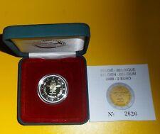 2 Euro Belgien 2008 PP - Menschenrechte - Proof - Etui + Zertifikat