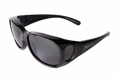 OVER GLASSES SUNGLASSES UV Mens Fit Over Prescription Glasses. Large/Medium Size