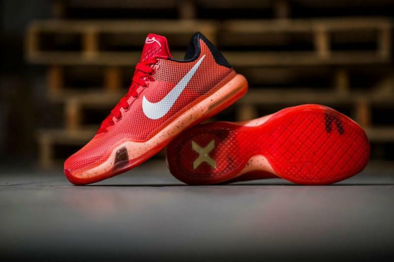 Mens Nike Air Kobe Elite X Sneakers New, Bright Crimson 705317-616 sku AA