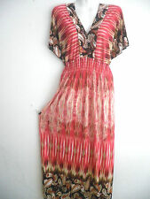Women Long Maxi summer beach hawaiian Boho evening sundress casual dress XXL #5