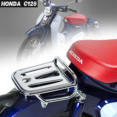 2018 2019 Super Cub C125 Rear Rack Luggage Carry Silver//Seat Red