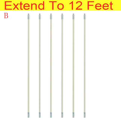 Flue Chimney Sweeping Brush Drain Rod Set Pipe Lint Remover Sweep Up To 16 Feet
