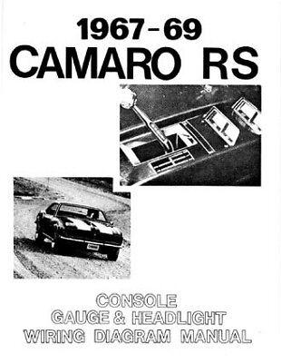 67 68 69 Camaro RS Headlight Console & Gauges Wiring Diagram Manual | eBayeBay