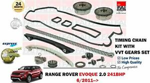 FOR-RANGE-ROVER-EVOQUE-2-0-241BHP-2011-gt-TIMING-CHAIN-KIT-WITH-VVT-GEARS-SET
