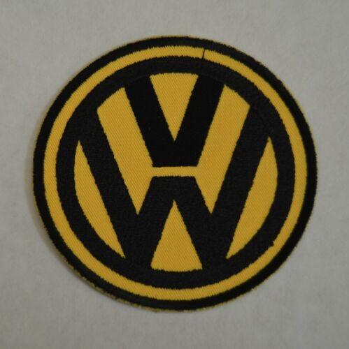 jaune et noir broder et thermocollant 9cm patch VW