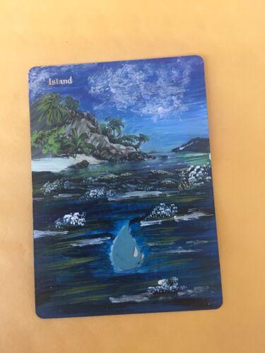 AMAZING MTG ALTERED ISLAND 100/%HAND-PAINTED ORIGINAL Art By Angela