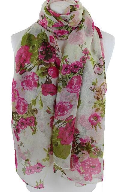 Ladies Stylish Floral Print Scarf Shawl Wrap Same Day Dispach