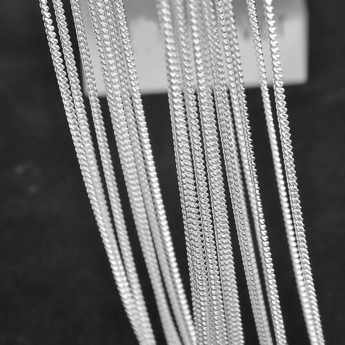 Silver Link Chains Flat Curb Necklaces Pendant Jewelry Accessories Findings 10X