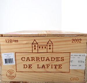 1-CAISSE-VIDE-DE-12-BOUTEILLE-CARRUADES-DE-LAFITE-2002-COMPLETE-estampes
