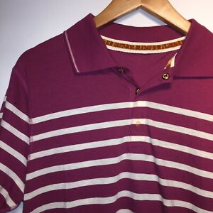 Hugo-Boss-Homme-Orange-Label-Pour-Homme-A-Rayures-Polo-Shirt-Taille-L