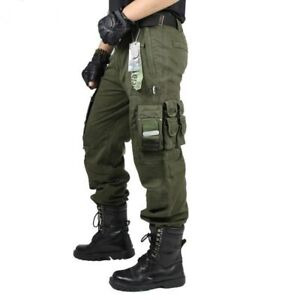 Mens-Cargo-Pants-Combat-Military-Tactical-Pocket-Trousers-Male-Outdoor-Climbing