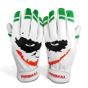 Primal-Baseball-Joker-Youth-Batting-Gloves-034-Smiley-034-Size-Medium