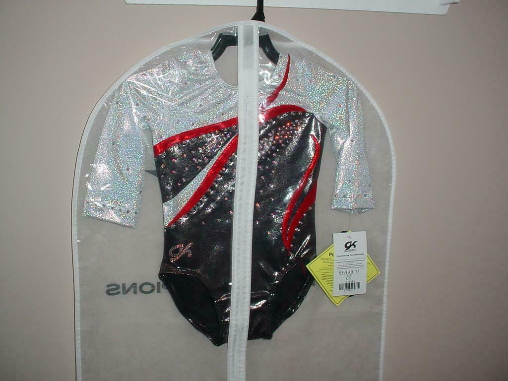 NEW GK Elite Competition  Leotard Rhinestone 9591A0175 Long Sleeve  LD SMALL CS  sale outlet