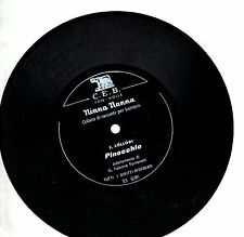 PINOCCHIO disco 45 giri CARLO COLLODI Made in ITALY disco FLEXI fiabe celebri