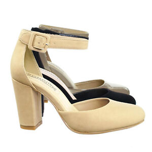 90fc7ef294e Details about Kaili Chunky Block Heel Dress Pump w Comfortable Foam Padding  & Ankle Strap