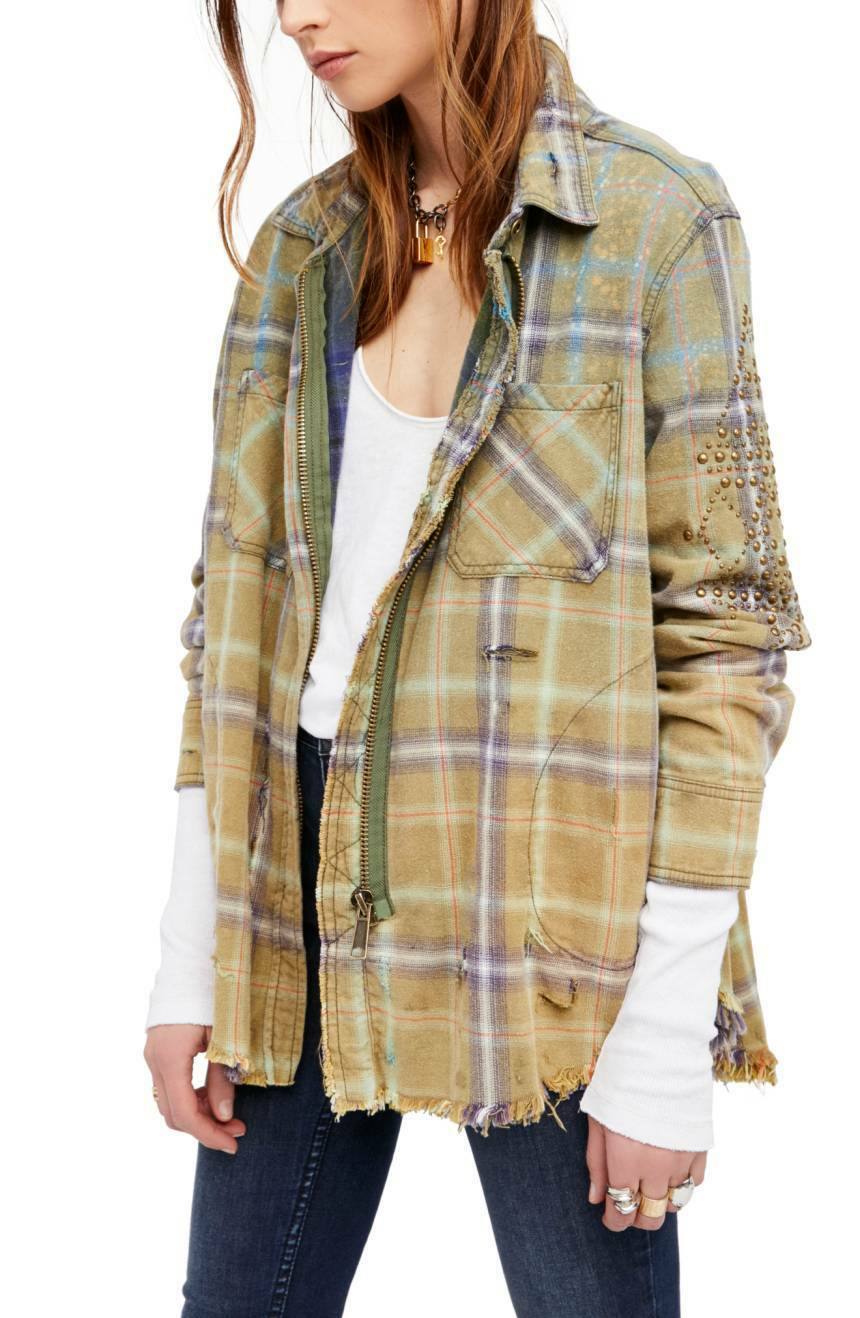 NWT Free People Deconstructed Shirt Jacket Retail