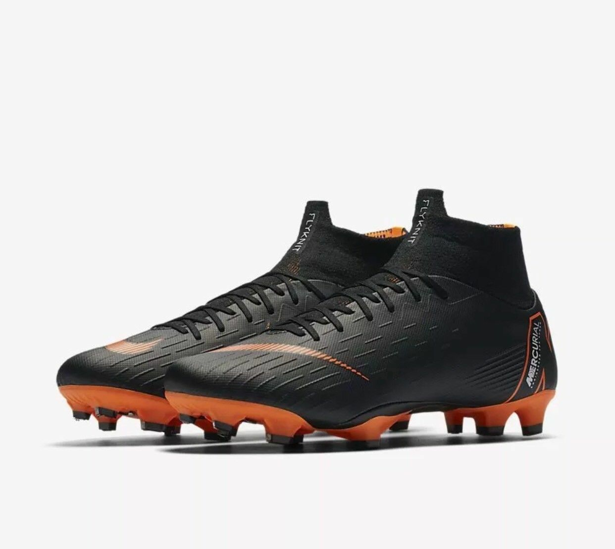 various colors af52a e10a5 Nike Mercurial Superfly 6 6 6 VI PRO FG Soccer Cleats ACC Black Orange  AH7368-081 24da18