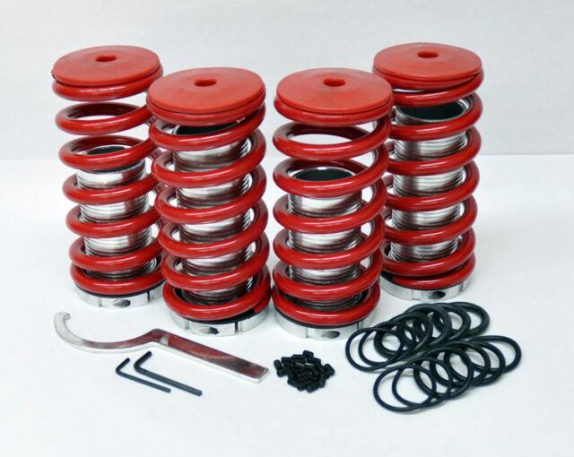 "Honda Adjustable 0-4"" Red Suspension Coilovers Lowering Drop Springs Kit"