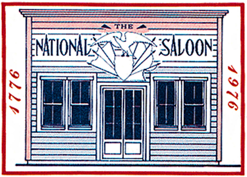 NATIONAL SALOON O On30 Model Railroad Structure Unptd Wood Craftsman Kit CM78919