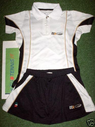Completo tennis TTK  MIME WHITE bambina - SPED. INCLUSA