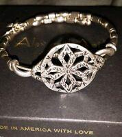 Alex And Ani Baraka Wrap Silver Bracelet Vw338rs Vintage 66
