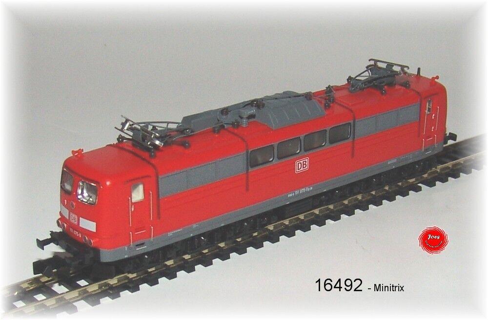 Trix 16492 E-Lok BR 151 de la DB AG con decodificador digital + Funciones Sonido