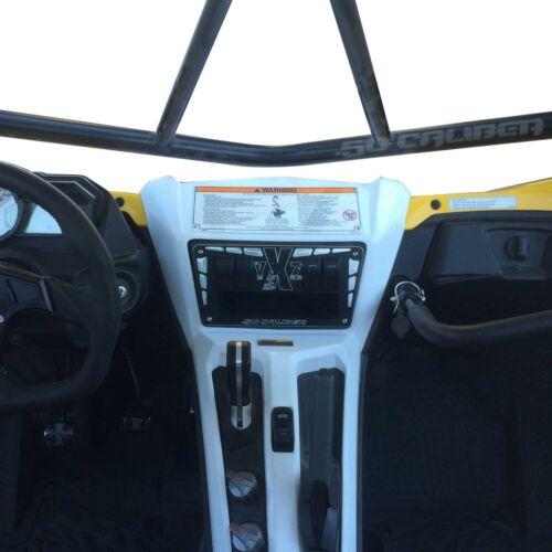 YXZ 1000 R Aluminum Billet Black Dash Panel w/ Switches UTV Performance Parts
