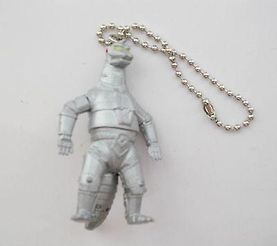 "3.75/"" Godzilla Armor Mecha Godzilla Hard Rubber Action Figure Key Chain Ring"