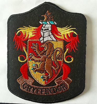 "HARRY POTTER  GRYFFINDOR IRON ON EMBROIDERED SIZE 3""X4"" PATCH"