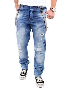 Das Bild wird geladen VSCT-Jeans-Herren-Antifit-Brad-Solid-Hosentraeger- Jeanshose- c14f36ef29