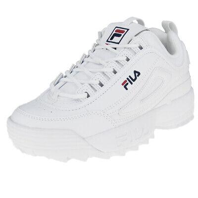 Chaussures Fila Distruptor Faible Wmn 1010302 1FG Blanc | eBay