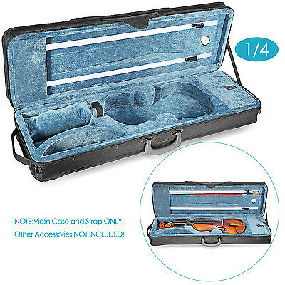 Neewer 1/4 Size Professional Oblong Shape Violin Carry Hard Case FX#18