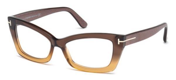 c49ef36274d Tom Ford TF 5363 050 Dark Brown Women s Glasses Brille Frames Eyeglasses  53mm for sale online