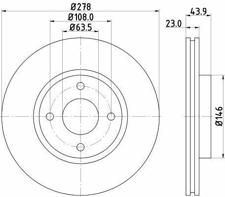 Mintex MDC2481 Disque de frein avant