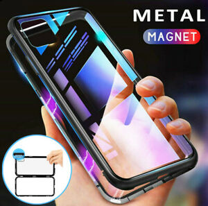 Magnetic-Adsorption-Case-for-iPhone-11-Pro-Max-XR-9H-Tempered-Glass-Hybrid-Cover
