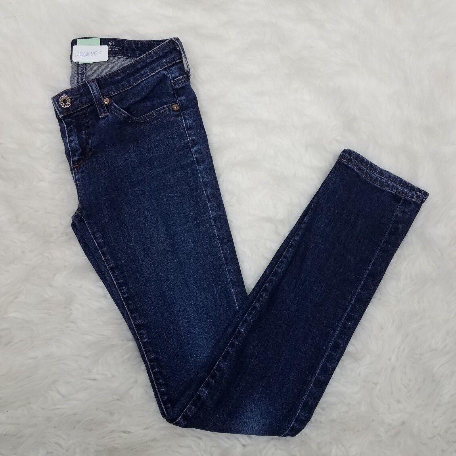 AG Adriano goldschmied Womens Jeans Stevie Slim Straight Sz 25R bluee F4
