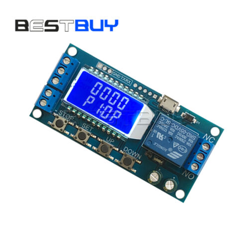 5V 50mA Trigger Time Delay Board 0.01-9999s Trigger Timing circuit switchBBC