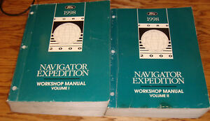 1998 Ford Expedition Lincoln Navigator Shop Service Manual ...