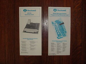 Rockwell-AIM-65-New-Old-Stock-Summary-Card-amp-6500-Programming-Reference-Card