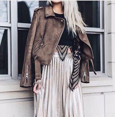 BNWT ZARA Metallic Pleated Midi Skirt, Gold, Size Xs BLOGGERS