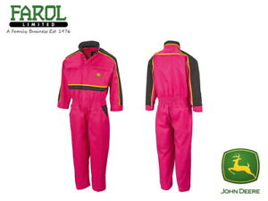 Genuine-John-Deere-Pink-Childrens-Overalls-Kids-Coverall-Christmas-Gift