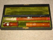 "Nice old German recorder flute ""F- Alto Johannes Adler Markneukirchen"""