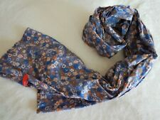 ESPRIT Washed Out Tape Scarf Schal Tuch Accessoire Pastel Blue Blau Neu