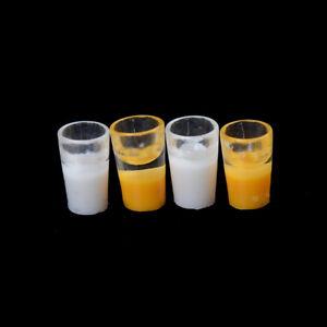 2X-Miniature-Milk-Glass-Kitchen-Orange-Drink-Food-Cup-Decor-Dollhouse-1-1-SJFF