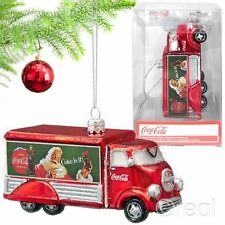 New Coca-Cola Truck Xmas Tree Ornament Santa Christmas Bauble Holidays Official