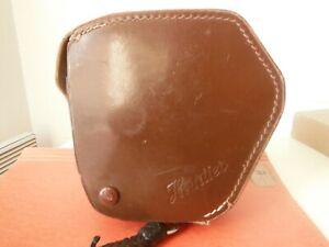 rare vintage camera 8 heurtier p.angenieux paris dans sa sacoche en cuir signee