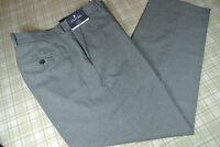 $100 Men's Stafford Gray Striped Suit Separate Wool Dress Pants 34 X 32