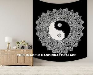 Large-Yin-Yang-Tapestry-Mandala-Wall-Hanging-Indian-Black-White-Throw-Wall-Decor