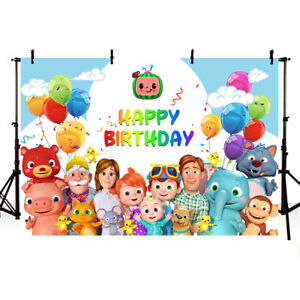 Cocomelon Family Backdrop Boys Birthday Party Baby Shower Photo Background Decor Ebay